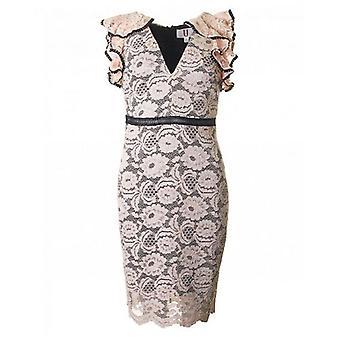 Forever Unique Collection V Neck Lace Dress