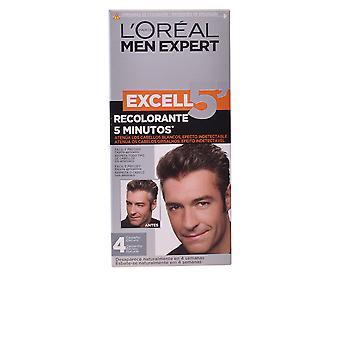 L'Maquillaje Oreal Excell5 Hombres #4-castaño Oscuro Para Hombres