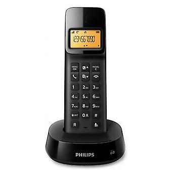 """Draadloze telefoon Philips D1601B/01 1,6"""" 300 mAh GAP Zwart"""