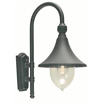 1 Light Outdoor Dome Wall Lantern Light Black Ip54