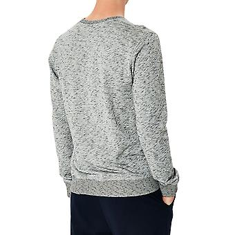 Fitted-cut mottled sweatshirt