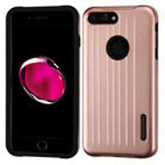 ASMYNA Carry-On Hybrid Protector Case pour iPhone 8/7 Plus - Rose Gold/Black