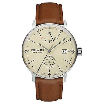 Iron Annie Bauhaus | Automatic | Light Brown Leather Strap | Beige Dial 5060-5 Watch