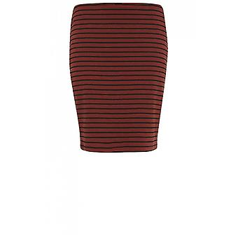 b.young Copper Striped Jersey Skirt