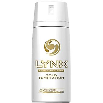3 X Lynx Anti-Perspirant Deodorante Body Spray150Ml - Gold Temptation