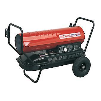 Sealey Ab1258 Space Warmer Paraffin Kerosene & Diesel Heater 125Kbtu/Hr Wheels
