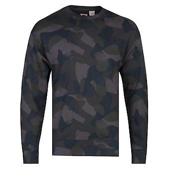 Levi's Authentic Camo Print Crew Neck Sweatshirt