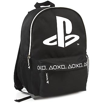 Sony Playstation Logo Black Stylish Gamer Backpack 16""