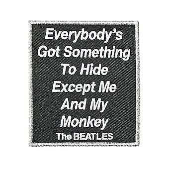 The Beatles Patch Me And My Monkey Song Title Official bordado Iron on