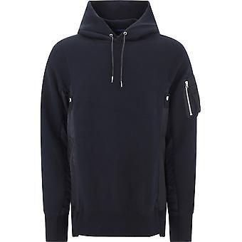 Sacai Scm033002 Homme's Sweat-shirt en coton noir
