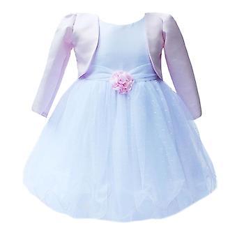 英国の赤ちゃん女の子ピンク白ボレロ結婚式花嫁介添人ドレスの洗礼