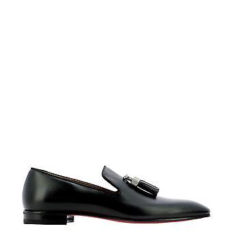 Christian Louboutin 3200400bk01 Men's Black Leather Loafers