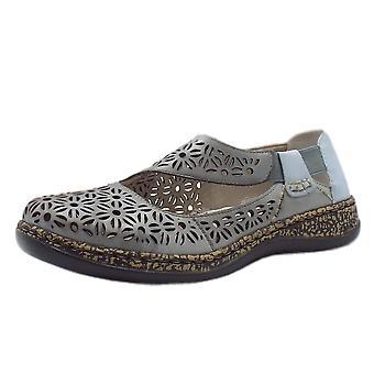 ريكر 46375-10 كارا أحذية أزياء مريحة في المعدنية