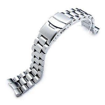 سوار ساعة Strapcode 22mm الصلبة 316l الفولاذ المقاوم للصدأ نهاية سوار مشاهدة غطاس seiko 6309-7040، نحى