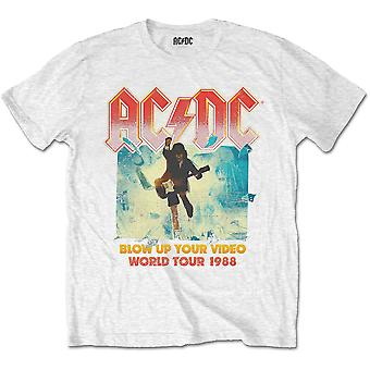 White Ac/Dc Blow Up Your Video Official Tee T-Shirt Mens Unissex