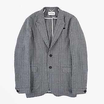Oliver Spencer  - Brookes Checked Jacket - Blue