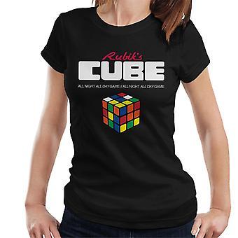 Rubik ' s hela natten hela dagen spel kvinnor ' s T-shirt