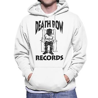 Death Row Records stoel Logo Black mannen Hooded Sweatshirt