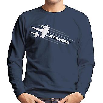 Star Wars X Wing Attack Silhouette Men's Sweatshirt