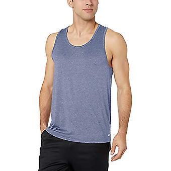 Essentials Men's Tech Stretch Performance Tank Top Shirt, Dark Blue He...