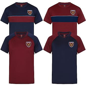 West Ham United Mens T-Shirt Poly Training Kit OFFICIAL Football Gift