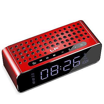 Lp USB TF-kortti aux bluetooth 4.2 langaton mini dual kaiuttimet subwoofer led hd suuri näyttö digitaalinen näyttö älykäs herätyskellot