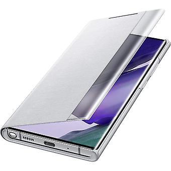 Virallinen Samsung Galaxy Note20 Ultra 5G clear view flip case cover - valkoinen hopea