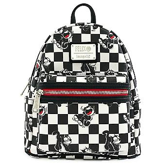 Loungefly Felix The Cat 100th Anniversary Checkered Mini Backpack