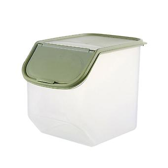 Kitchen Plastic Storage Container with Lid Large Green