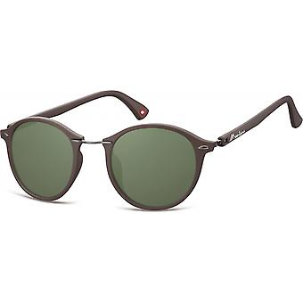 Sunglasses Unisex panto brown/green (S22)