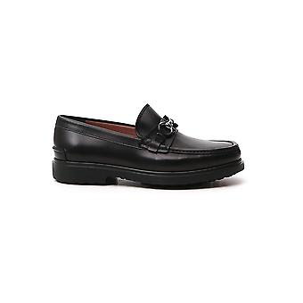 Salvatore Ferragamo 02c499735190 Heren's Black Leather Loafers