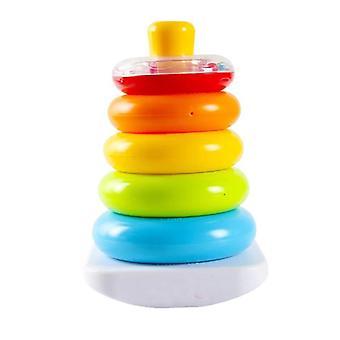 Jouets pour bébés 6 12 mois Arc-en-ciel Anneaux d'empilage jouets de développement précoce pour bébé