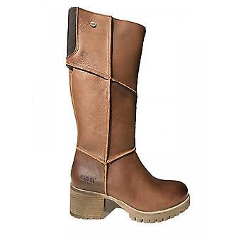 Oak & Hyde Kensington Hi Premium Leather Boot (brown)