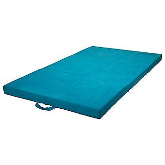 Opvouwbaar matras logeermatras 200x120x10 cm blauw