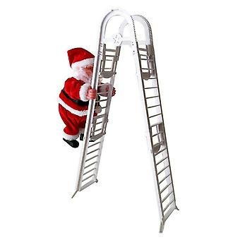 Christmas Santa Claus Music Toys- Electric Climbing Ladder Hanging Kids Gift Party Ornament Tree Decoration (02)