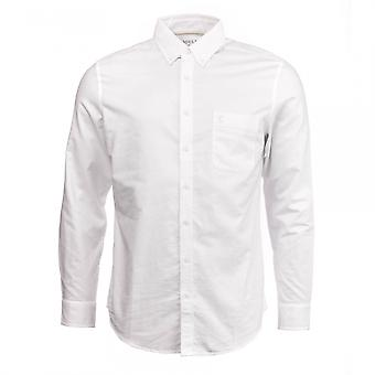 Joules Joules Shirt met lange mouwen klassieke Fit witgewassen Oxford (Z)