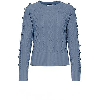b.young Melissa Blue Cable Knit Jumper