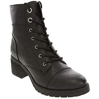 Sugar Women's Klondike Lace Up Combat Boot Low Shaft with Block Heel