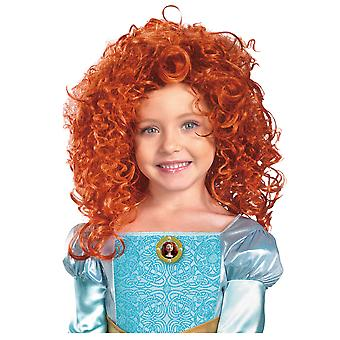Merida Brave Princess of DunBroch Disney Red hair Book Week Girls Costume Wig
