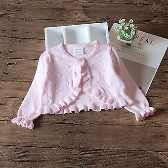 Baby Girls Cardigan Sweater- Veste à manches longues, Cotton Outerwear Baby Girls