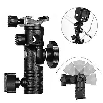 Universal E Type Flash Cold Shoe Bracket Swivel Light Stand Mount With Umbrella Holder