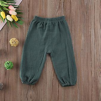 Toddler Infant Child Baby Pants Wrinkled Cotton Vintage Bloomers Trousers