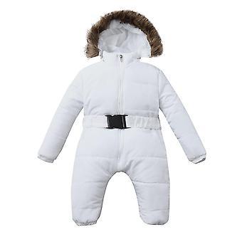 Zimní kojenecká dětská romper bunda s kapucí kombinéza teplý tlustý kabát outfit