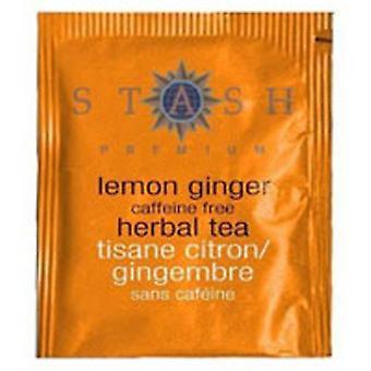 Stash Tea Lemon Ginger Tea Caffeine Free, 20 Bags
