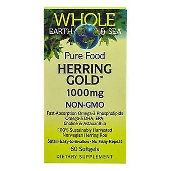 Luonnolliset tekijät Koko maa ja meri silli kulta Omega-3, 1000 mg, 60 Softgels