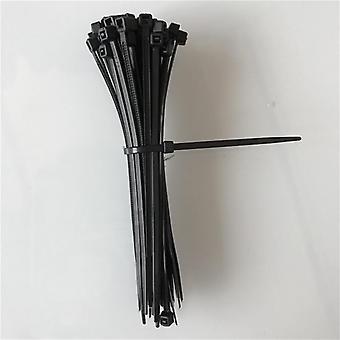 100pcs/120mm Autoblocante Nylon Cable Plástico Zip-tie Loop Wrap Ties