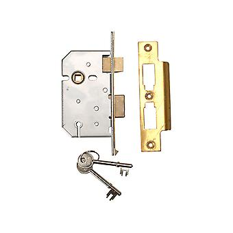 UNION 2277 3 Alavanca Mortice Sashlock Latão Polido 65mm 2.5in Visi UNNY2277PL25