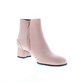 Campista Katie Womens Pink Leather Zipper Heels Pumps Shoes