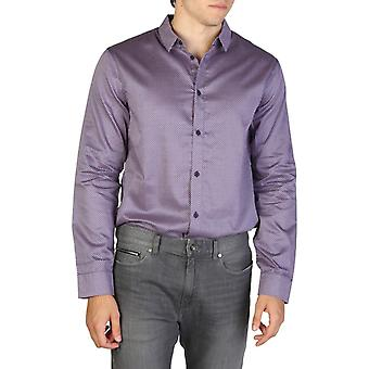 Armani exchange regular fit  men's multicolour pattern shirts