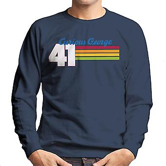 Curious George 41 Race Stripes Men's Sweatshirt